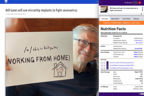 Our.News creates 'nutritional' fact-checking labels to help audiences make healthier news consumption choices